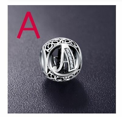 bf5a578c0c7 Authentic ALL LETTERS beads 925 Sterling Silver Charms suit Pandora  bracelets