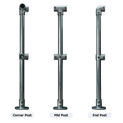 Pre Assembled Galvanised Key Clamp Handrail Uprights Barrier Fencing System