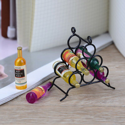 Doll House miniature furniture DIY kitchen room 1:12 & mini wine rack bottle  LY