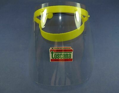 Full Face Shield Protection With Frame /1 Yellow + 1 Protective Film TOSCANA