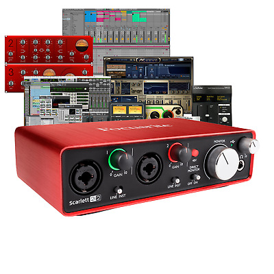 Focusrite Scarlett 2i2 3rd Gen Mk3  USB Interface with Ableton & Pro Tools