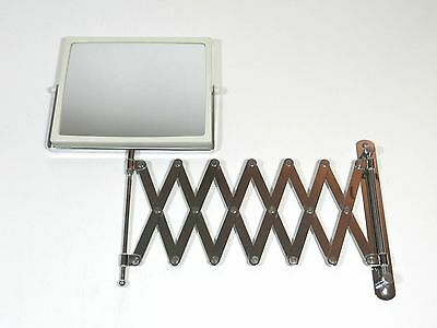 Vintage Double Sided Wall Mount Accordion Swivel Tilt Mirror Shaving Makeup