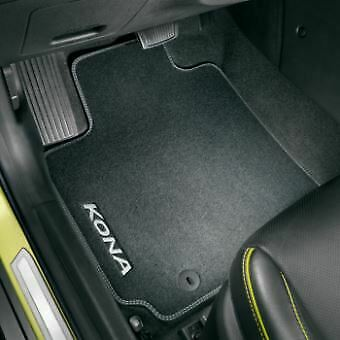 Genuine Hyundai Kona EV (09/2018+) Textile Floor Mat, Carpet Velour Rhd