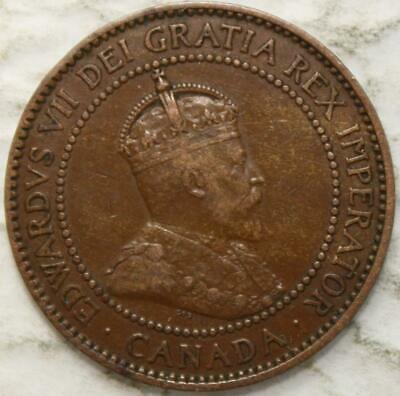 Canada 1910 Large Cent, Nice Grade, Old Date King Edward VII