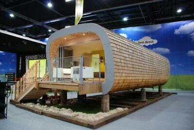 Timber framed 'Pilotis Eco Cabin' as seen at Grand Designs Live