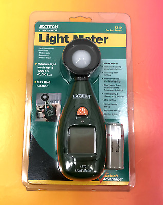 Extech instruments LT10 Light Meter Max Hold Function #0114