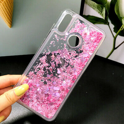 For Huawei Y7 Y9(2019) Dynamic Liquid Glitter Quicksand Soft Silicone Cover Case