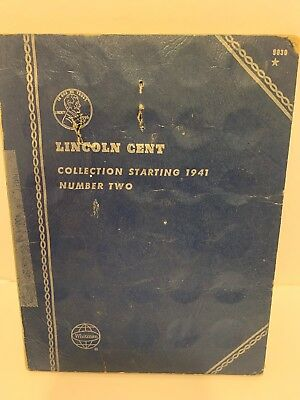 Lincoln Head Cent Collection 1941 Partial Set of Wheat Pennies