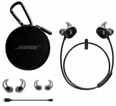 BOSE SoundSport Earbuds Wireless Earphones Headphones Bluetooth Black New