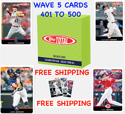 2019 Topps Total Wave 5 Singles - YOU PICK - Altuve, Senzel, Chavis RC, Torres