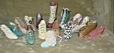 Collectible Minature Shoes Lot Of 16
