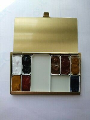 Apelles Palette Expanded (Holbein) in Tirra Lyra Palette   8 colours + 2 mixing