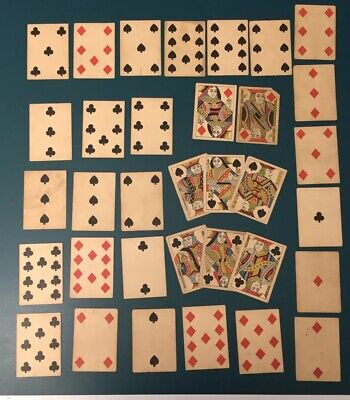 Civil War Era No Numbers Andrew Dougherty Excelsior Playing Cards Deck US 1800s