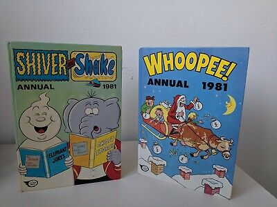 Classic Vintage British comic Annual bundle Shiver and Shake and Whoopee 80s