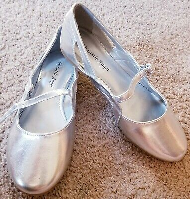 New Girl Little Angel Enna-884E Patent Round Toe Cutout Mary Jane Ballet Flat