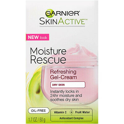 Garnier SkinActive Moisture Rescue Refreshing Gel Cream For Dry Skin, 1.7oz