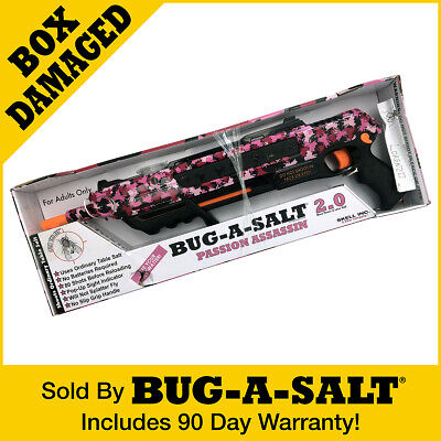 DAMAGED BOX Authentic PINK CAMOFLY BUG-A-SALT 2.0 GUN Never Used
