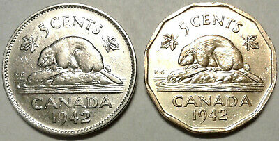1942 CANADA FIVE CENTS Coin