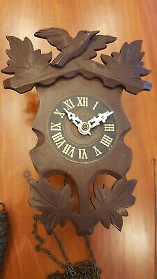 Beautiful Vintage German Black Forest Wall Clock 2