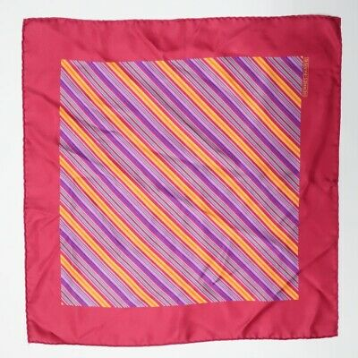 pre-loved authentic HERMÈS pink striped SILK handkerchief GAVROCHE