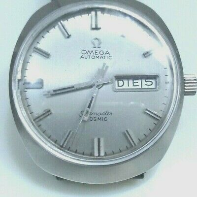 OMEGA AUTOMATIC SEAMASTER COSMIC, antique Swiss wrist watch, stainless steelcase