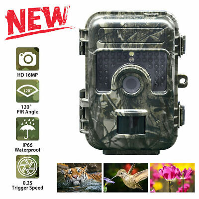 16MP Hunting Trail Camera HD 1080P Wildlife Scouting Cam Night Vision IP66 K7Y9S