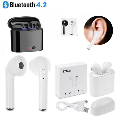 i7S Twins Wireless Bluetooth Earbuds Earphone Stereo Headphone For iPhone 8 7 6s