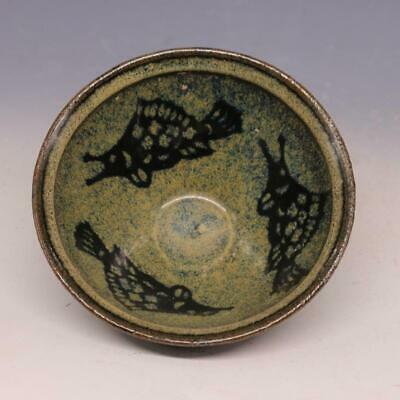 A Fine Collection of Chinese 11thC Song Jizhou Ware Porcelain Fish Veins Bowls