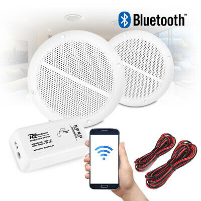 Bathroom Kitchen Ceiling Speakers and Wireless Bluetooth Amplifier System