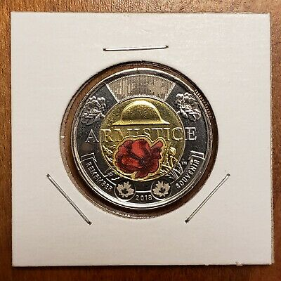 2018 Canada Colour Armistice $2 From Mint Roll