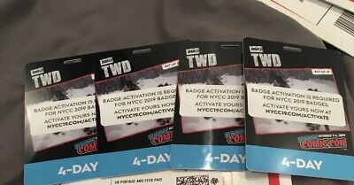 IN HAND - NYCC New York Comic Con 4 Day Pass ( Badge / Ticket ) 2019 Thu - Sun