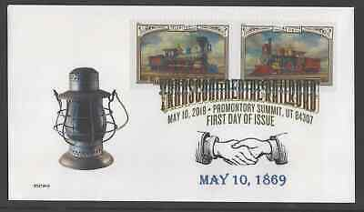 TRANSCONTINENTAL RR ** 150th ANNIVERSARY FDC ** PROMONTORY SUMMIT