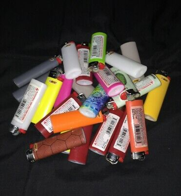 Lighter Lot 24 Empty Bic Lighters Random Colors Most Standard Size Few Small