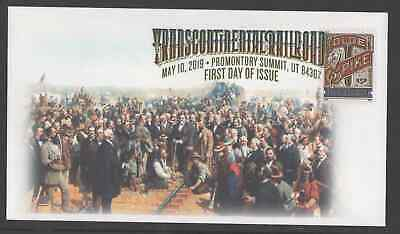 TRANSCONTINENTAL RR ** 150th ANVER. FD COVER ** PROMONTORY SUMMIT, UTAH