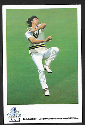 IMRAN KHAN PAKISTAN OFFICIAL TCCB CRICKET POSTCARD No 83