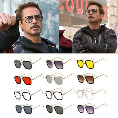 HOT Tony Stark Sunglasses Men Metal Avengers Iron Man Robert Downey Sun Glasses