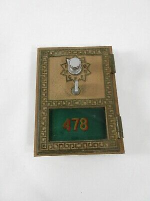 Keyless Lock Co -Post Office Box Door with Painted Glass Number -Green PO P.O.