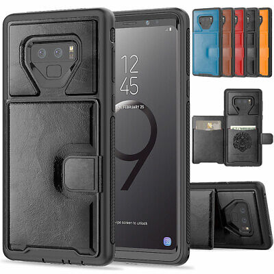 Shockproof Stand Case Credit Card Holder For Samsung Galaxy S9 / Plus / Note 9