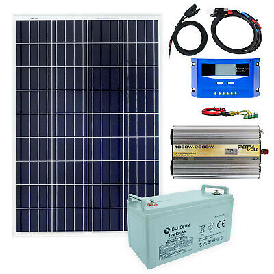 100 Watt 12V 600W Transformateur de Tension Solaire Installation Autonome