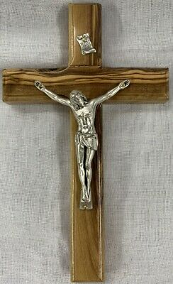 Vintage Wall Catholic Metal Wooden Jesus Cross Crucifix Christ Holy Religious