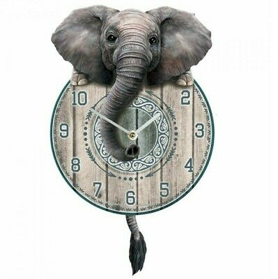 Nemesis Now - TICKIN PENDULUM WALL CLOCK - Trunkin Elephant
