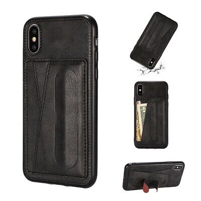For iPhone Xs Max XR X 7 6s 8 + Soft Slim Leather Wallet Card Holder Case Cover
