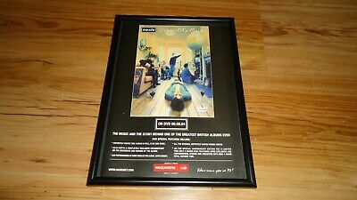 OASIS definitely maybe-framed original press release promo poster