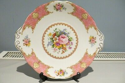 Royal Albert Lady Carlyle Cake Sandwich Plate First Quality Free Uk P&P