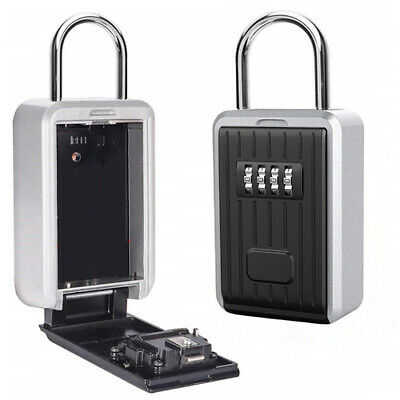 Key Storage Box High Security 4 Digit Outdoor Wall Mounted Code Secure Safy Lock