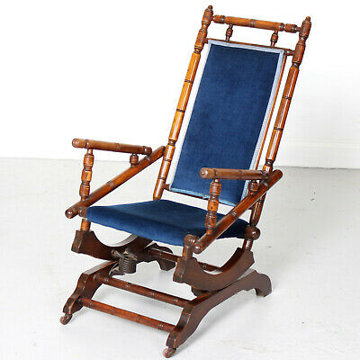 Antique Rocking Chair 19th Century American Influence Victorian