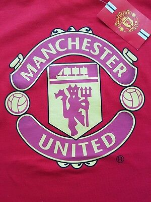 Official Manchester United Fc Red T-Shirt Nwt Size Large 105Cm
