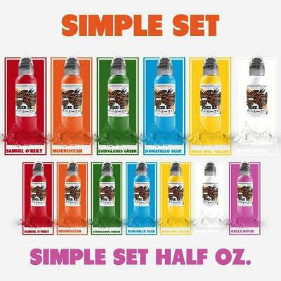 Set Colori World Famous Ink - Simple Set [15ml e 30ml]
