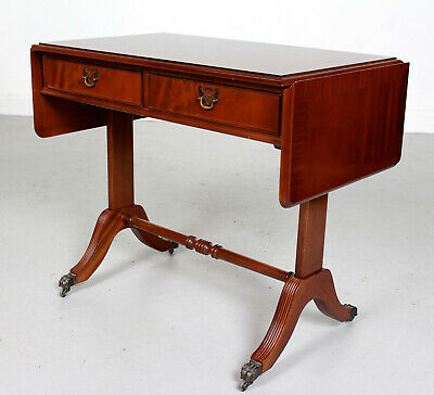 Antique Vintage Sofa Table Mahogany Drop Leaf Console Writing Table