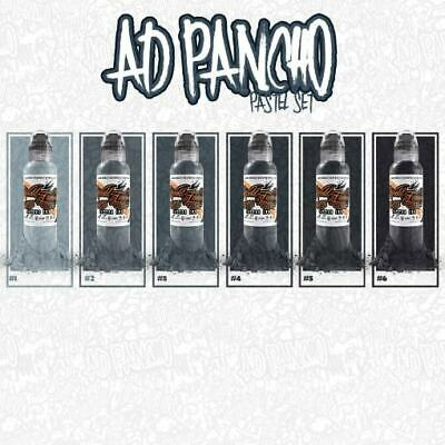 Set World Famous Ink - A.D. Pancho Pastel Grey Set